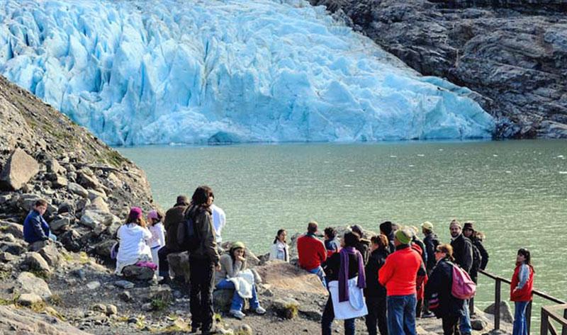 Tour Glaciar Balmaceda Serrano vista glaciar